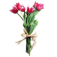 7 розовых тюльпанов