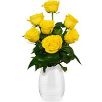 5 желтых роз