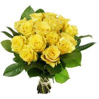 15 жёлтых роз