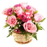 Розовая корзинка